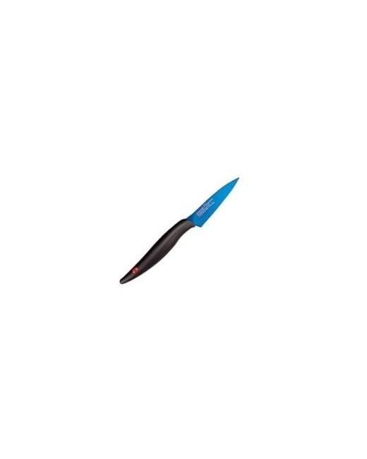 Couteau d'office 8 cm Kasumi Titanium Lame Bleu