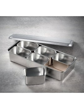 Set 6 mini bac gastro inox